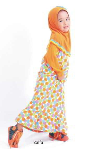 Baju Muslim Anak Perempuan Bunga
