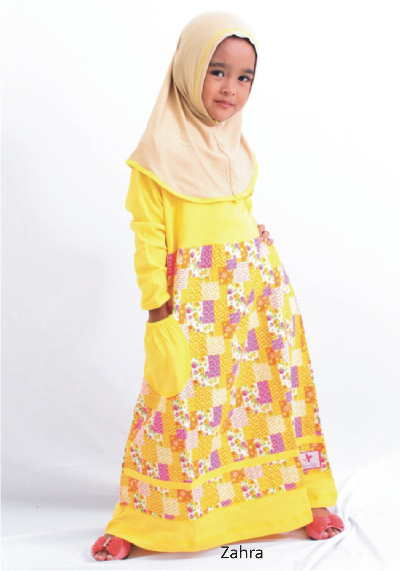 Baju Muslim Gamis Anak Perempuan Zahra Model