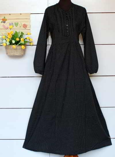 Baju Muslim Katun Jepang Hitam Polos Model Baju