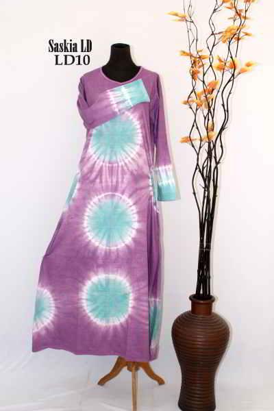 Baju Gamis Batik Saskia Model Baju Muslimah