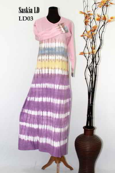 Busana Gamis Batik Saskia Model Baju Muslimah
