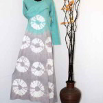 Model Baju Gamis Batik Terbaru Kombinasi Modern 2015