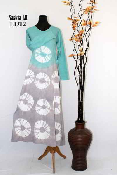 Gambar Gamis Batik Saskia Model Baju Muslimah