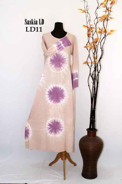 Gamis Batik Terbaru Saskia Model Baju Muslimah