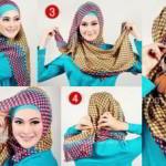 Cara Memakai Jilbab Segi Empat Terbaru 2015