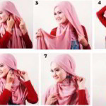 Cara Menggunakan Jilbab Segi Empat