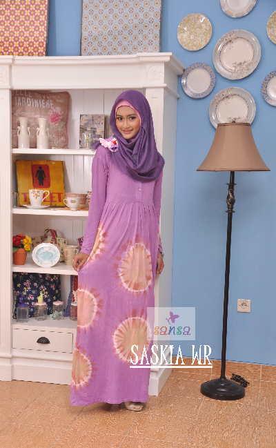 Model Baju Batik Muslim Muslimah Wanita Modern Terbaru Rp 50rb