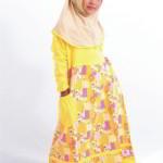 Gamis Anak Muslimah Motif Bunga Zahra